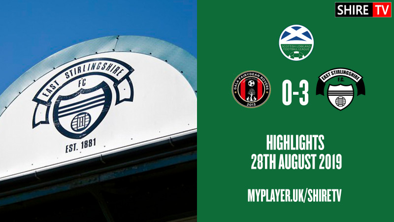 Gala Fairydean Rovers V East Stirlingshire (Lowland League 28th August 2019)