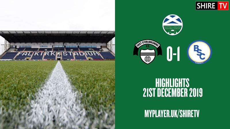 East Stirlingshire V BSC Glasgow (Lowland League 21st December 2019)