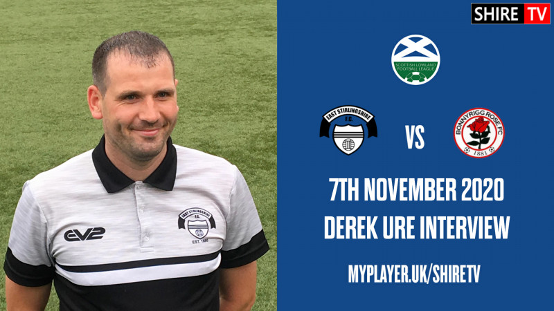Derek Ure - Post Bonnyrigg Rose - 7th November 2020