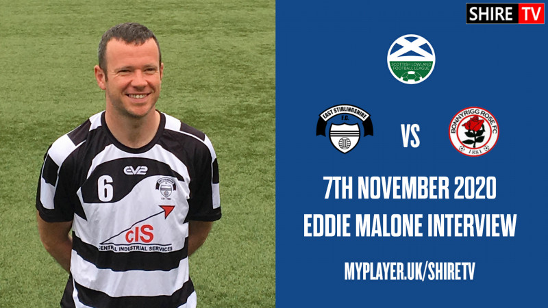 Eddie Malone - Post Match Interview - Bonnyrigg Rose - 7th November 2020