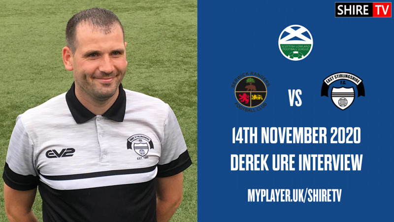 Derek Ure - Post Match Vs Berwick Rangers - 14th November 2020