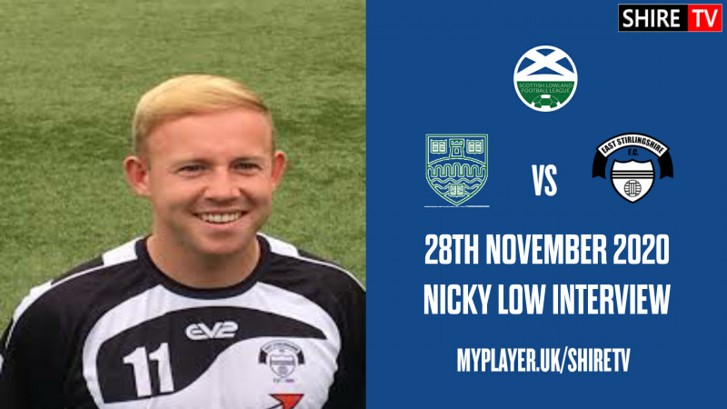 Nicky Low - Post Match Vs Stirling Uni - 28th November 2020