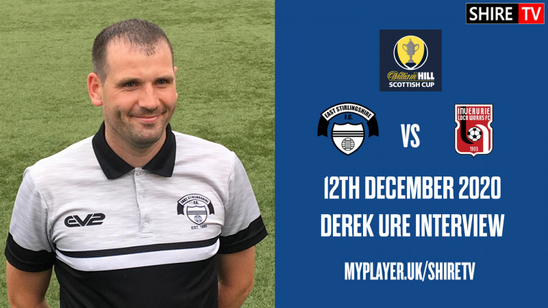 Derek Ure - Post Match V Inverurie - 12th December 2020