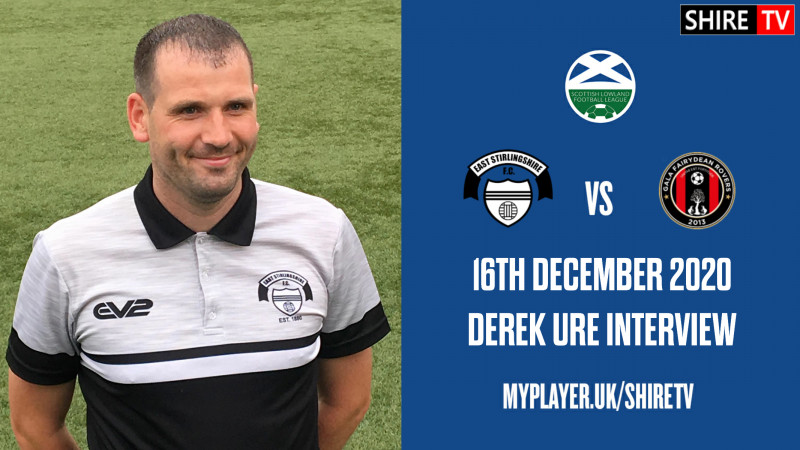 Derek Ure - Post Match V Gala - 16th December 2020