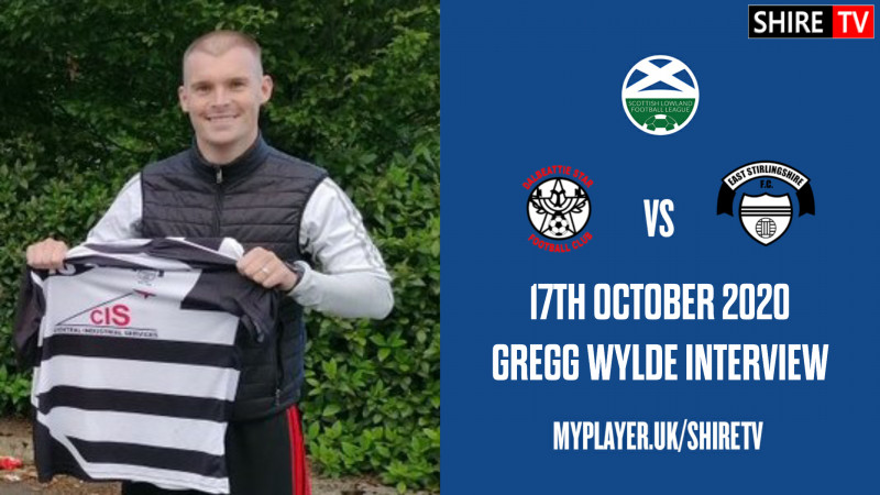 Gregg Wylde - Post Match Interview - Dalbeattie Star - 17th October 2020
