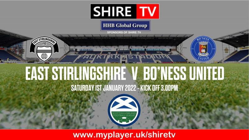 East Stirlingshire v Bo'ness United (1/1/22)