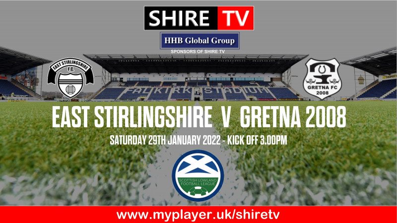 East Stirlingshire v Gretna 2008 (29/1/22)