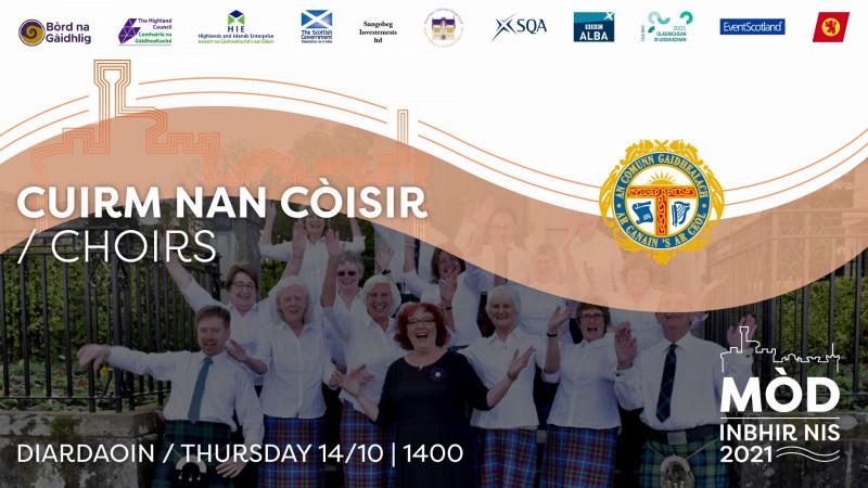 Cuirm nan Còisir Diardaoin / Choir Event Thursday